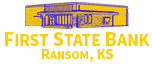 First State Bank of Ransom, KS Logo
